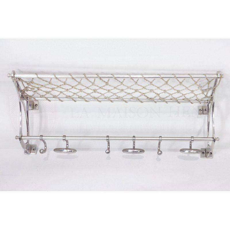 wandgarderobe zug garderobe nickel 64x20x29 154 70 la. Black Bedroom Furniture Sets. Home Design Ideas