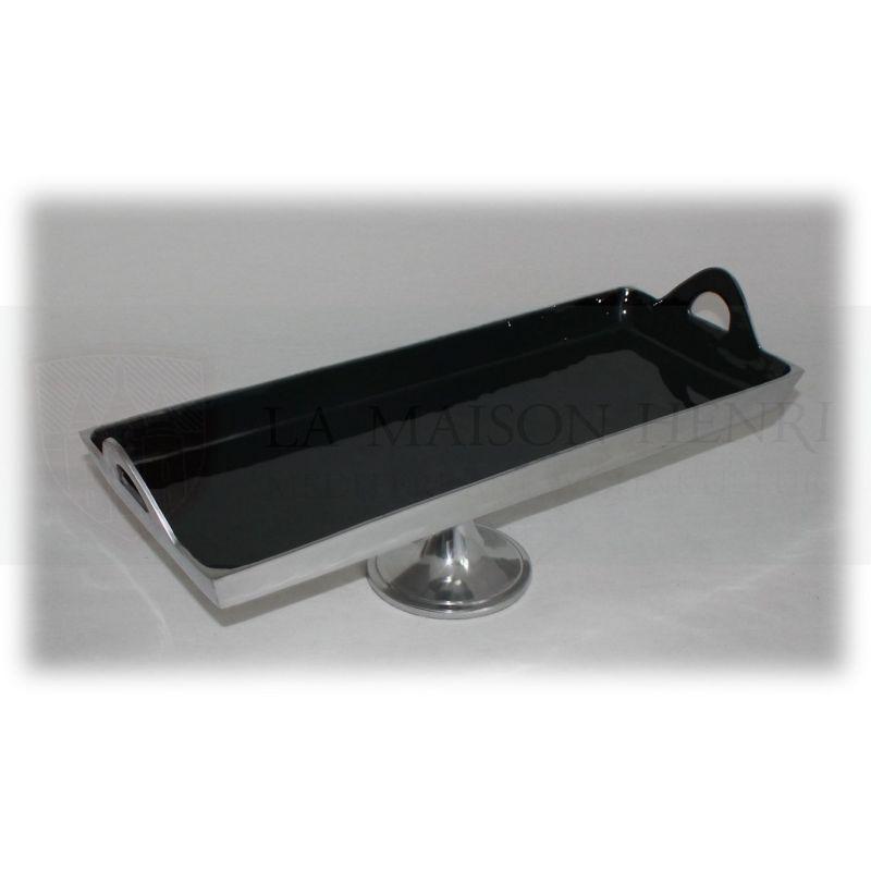 rechteckige schale obstschale dekoschale auf standfu schwarz s. Black Bedroom Furniture Sets. Home Design Ideas