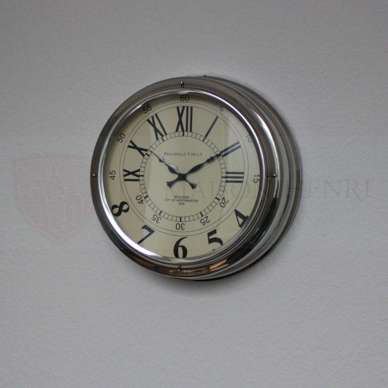 Runde edelstahl wanduhr 45 cm modell m nchen 139 95 la for Wanduhr modern edelstahl