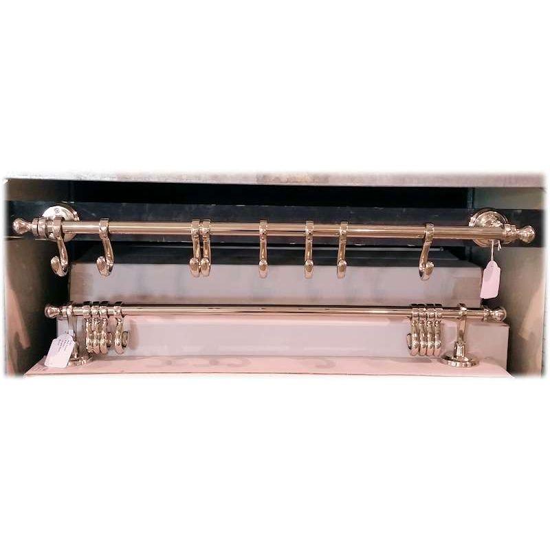 wand h nger kleiderstange handtuchhalter mit 8 haken 54 50 s. Black Bedroom Furniture Sets. Home Design Ideas