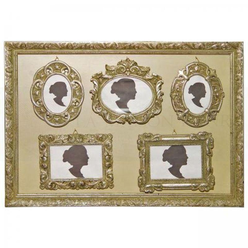 bilderrahmen barock set von 6 st ck silberfarben 4148. Black Bedroom Furniture Sets. Home Design Ideas
