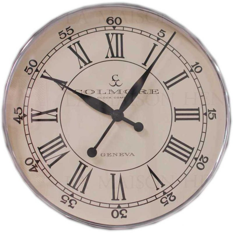 runde edelstahl wanduhr wall clock 60 cm wei 196 50. Black Bedroom Furniture Sets. Home Design Ideas