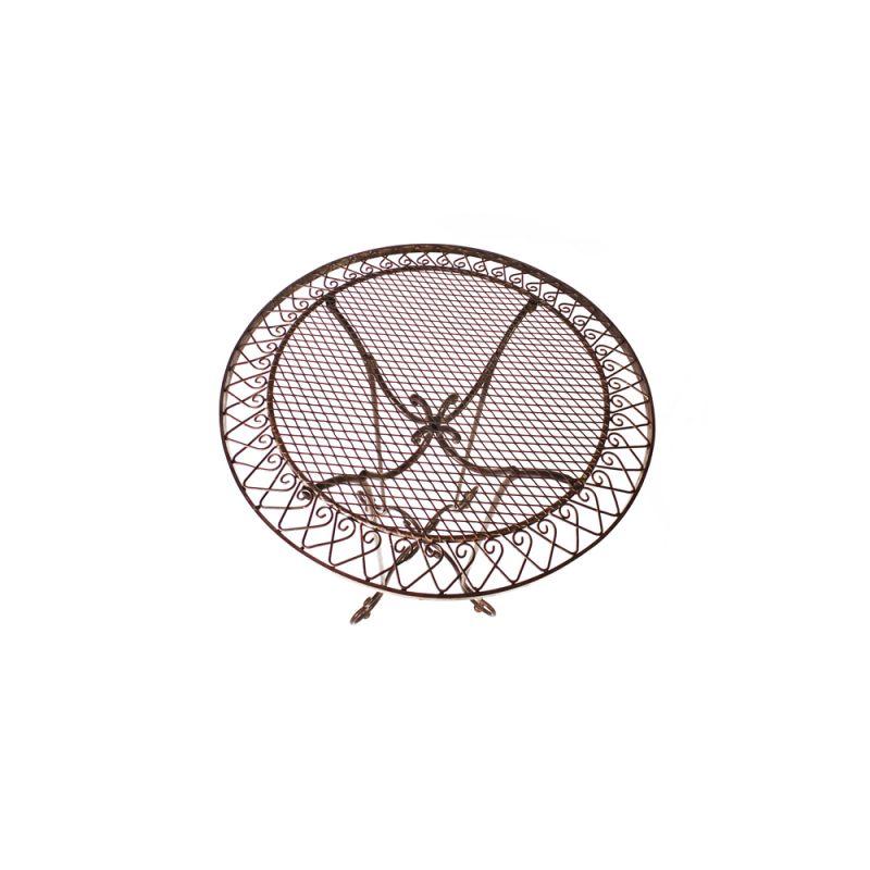 Bistrotisch stehtisch bartisch rund antikbraun la maison for Bartisch rund