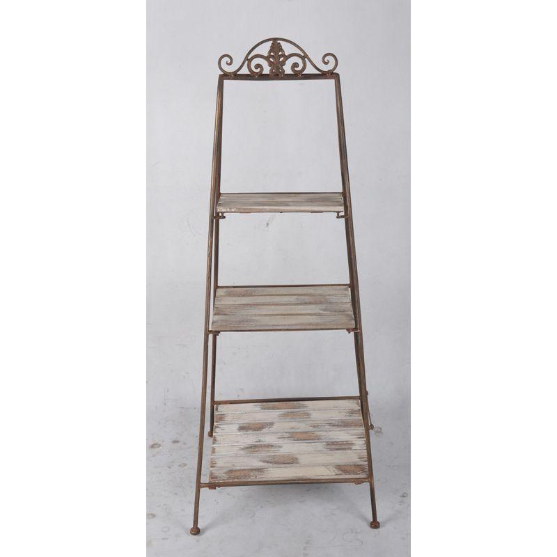 eisenregal antik braun la maison henri shop preiswertes. Black Bedroom Furniture Sets. Home Design Ideas