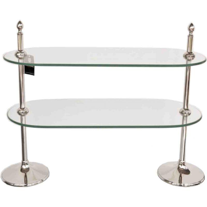 glas etagere mit 2 ovalen glasebenen la maison henri shop preiswer 17610. Black Bedroom Furniture Sets. Home Design Ideas