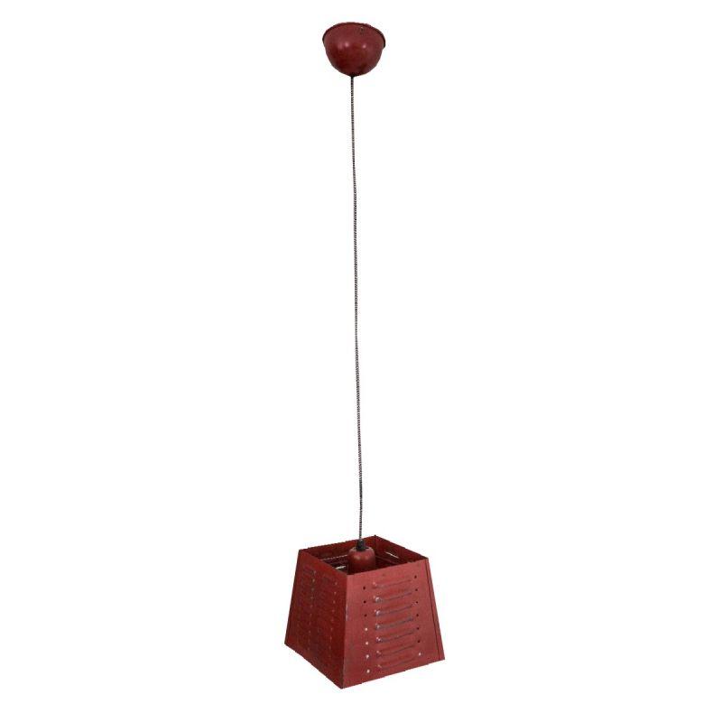 vintage industrielook deckenleuchte rot 20 5x20 5x105cm. Black Bedroom Furniture Sets. Home Design Ideas
