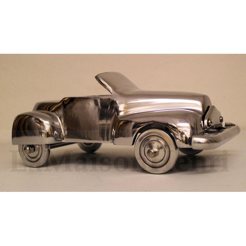 deko sportwagen cabriolet alu optik poliert 40cm la maison henri sh 54 50. Black Bedroom Furniture Sets. Home Design Ideas
