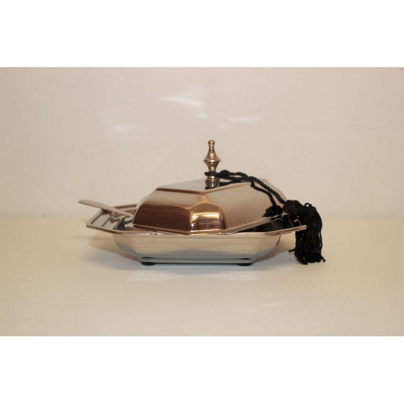 edle butterschale mit glaseinsatz und buttermesser la maison henri 2614. Black Bedroom Furniture Sets. Home Design Ideas