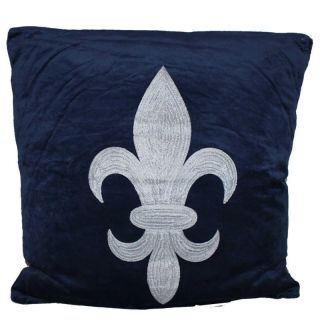 Deko Kissen deko kissen französische lilie blau co velvet la maison henri shop