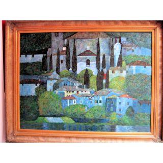 Nach Klimt Church at Cassone sul Garda  Ölgemälde auf Leinwand ca. 110*140 cm