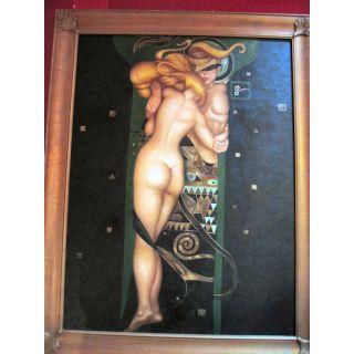 Nach Klimt Tag umarmt Nacht Ölgemälde auf Leinwand ca. 140*110 cm