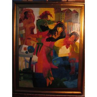 Kandinsky Tänzer Ölgemälde auf Leinwand ca. 140*110 cm