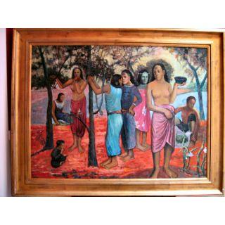 Paul Gauguin Südseeschönheiten Ölgemälde auf Leinwand ca. 110*140  cm
