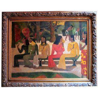 Paul Gauguin  Ta Matete Ölgemälde auf Leinwand ca. 110*140  cm