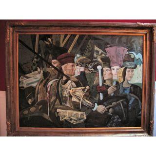Höfische Gesellschaft nach Kandinsky  Ölgemälde auf Leinwand ca. 140*110 cm