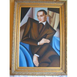 Ölgemälde nach Tamara de Lempicka  Mann im braunen Jakett