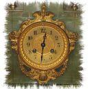 Antike Onix Pendule von S. Martie & Cie als Kaminset; gewidmet dem Dirigenten  F. de la Motte