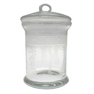 Glasgefäß mit Schliff Senlis III