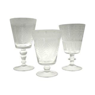 Senlis Glaspokale mit verschiedenen Motiven
