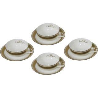4 Shibata Golden Empire Porzellan Espresso Tassen