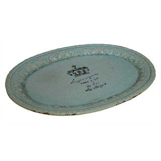 Keramikteller ozeanblau 61 cm Model Paris