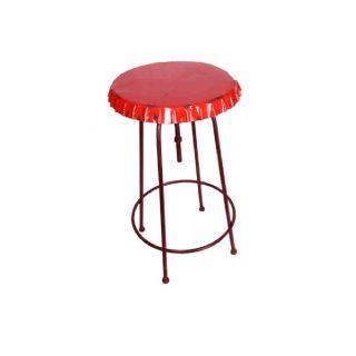 Höhenverstellbarer Stehtisch/ Bistrotisch Modell Kronkorken Soda rot