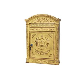 briefkasten post box courrier mit schloss la maison henri shop prei 10187. Black Bedroom Furniture Sets. Home Design Ideas