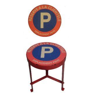 Hocker Modell Parkschild réservé à la clientèle - Reseviert für Kunden Vintage Red