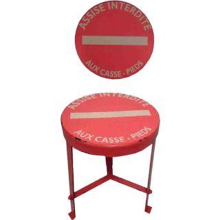 Hocker Modell assise interdite aux - Sitzen verboten Vintage Red