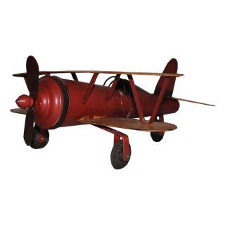 Deko-Objekt Doppeldecker Einsitzer Flugzeug 42 x 49 x 18