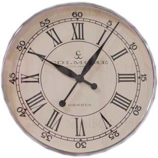 Runde Edelstahl Wanduhr Wall Clock 51 cm