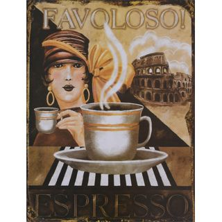 Metallschild Espresso Favoloso Nostalgie