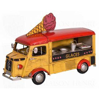 Deko-Objekt Eisverkäufer Verkaufswagen 30 cm