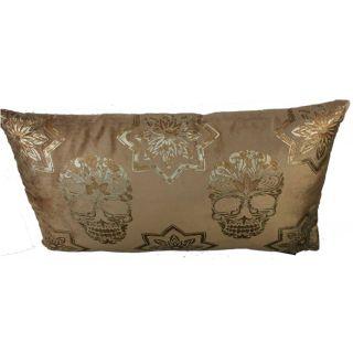 Amaana Grand Design Kissen Velvet Schädel Gold  35x60cm