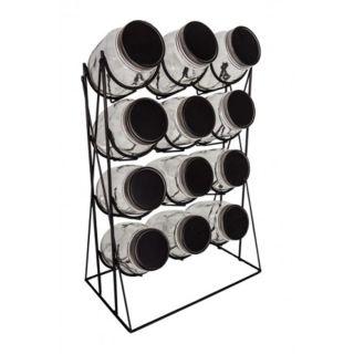 12 Deckelgläser im Ständer Aufbewahrungsgläser