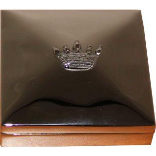 Schatulle Kästchen mit Krone Quadratisch