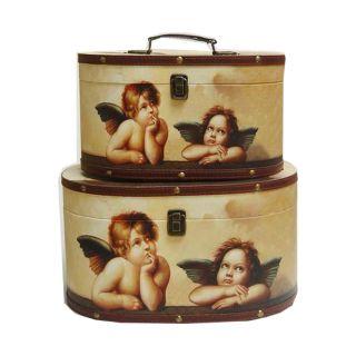 2 Deko  Boxen mit Engelmotiven