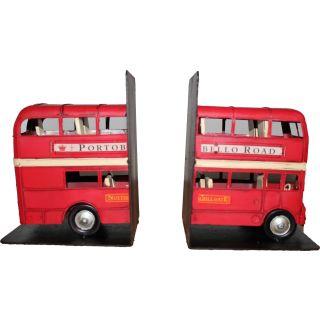 Buchstützen Modell Doppeldecker Bus