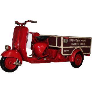 Deko-Objekt Roter Vintage Vespa Roller