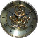 Kaminuhr mit transparenter Uhrwerk