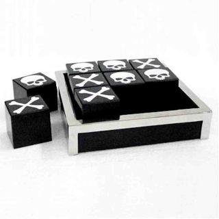 Hochwertiges Skull Tic Tac Toe Spiel  X/O
