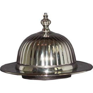 Edelstahl Butterschale mit wellenförmiger Cloche