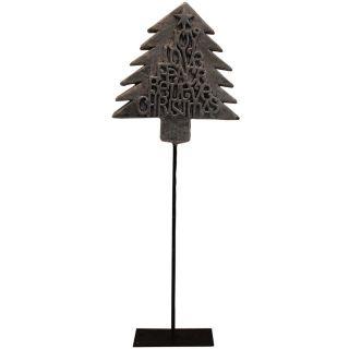 Dekorativer Weihnachtsbaum auf Eisenstand