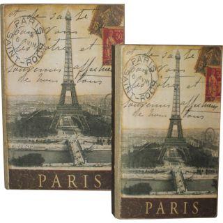 Buchkasette 2er Set Eiffelturm & Paris