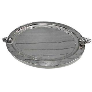 Ovale Servierplatte mit Skull Griffen 62 cm