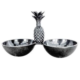 2 Anbietschalen Nussschalen mit Ananas im Antik Look