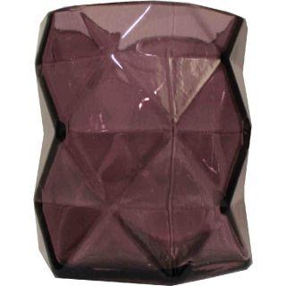 Teelichthalter Rautenlook violett