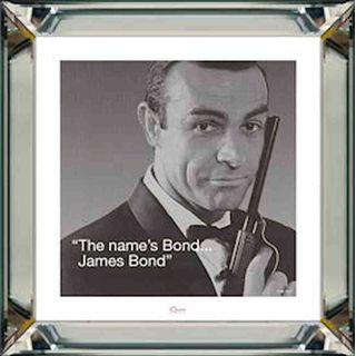 Spiegelrahmenbild James Bond The name´s Bond