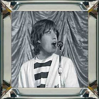 Spiegelrahmenbild Rolling Stones Gather Moss III