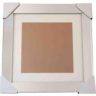 Bilderrahmen Spiegelrahmen mit Passepartout 50x50cm